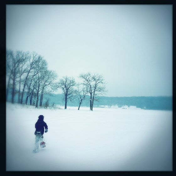 Snowshoeing at Maple Lake